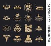 metal working logo icons set....   Shutterstock .eps vector #1272452350