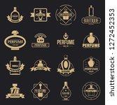 perfume bottles logo icons set. ...   Shutterstock .eps vector #1272452353