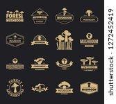 mushroom forest logo icons set. ...   Shutterstock .eps vector #1272452419