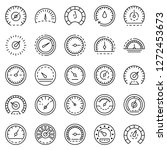 speedometer control icon set.... | Shutterstock .eps vector #1272453673