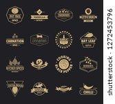 seasoning elements logo icons...   Shutterstock .eps vector #1272453796