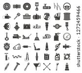 motor car part icon set. simple ... | Shutterstock .eps vector #1272459466