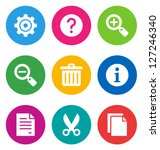 color circular basic interface... | Shutterstock .eps vector #127246340
