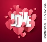 valentine s day background with ... | Shutterstock .eps vector #1272464956