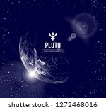 pluto  the planet responsible... | Shutterstock .eps vector #1272468016