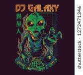 dj galaxy illustration | Shutterstock .eps vector #1272471346