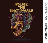 wolfie the unstoppable... | Shutterstock .eps vector #1272471370
