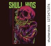 skull kids illustration | Shutterstock .eps vector #1272471376