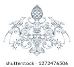 floral decorative vector... | Shutterstock .eps vector #1272476506