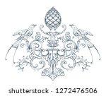 floral decorative vector... | Shutterstock .eps vector #1272476506