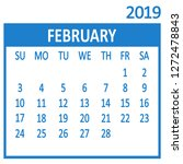 february. second page of set.... | Shutterstock .eps vector #1272478843