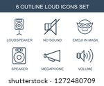 6 loud icons. trendy loud icons ... | Shutterstock .eps vector #1272480709