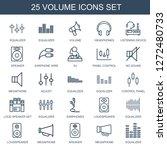 25 volume icons. trendy volume... | Shutterstock .eps vector #1272480733
