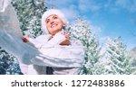 happy smiling woman portrait in ... | Shutterstock . vector #1272483886
