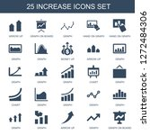 increase icons. trendy 25... | Shutterstock .eps vector #1272484306