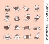 cute pigs collection for your... | Shutterstock .eps vector #1272513040