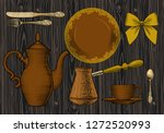 coffee collection.  up of... | Shutterstock .eps vector #1272520993