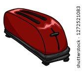 toaster icon. vector... | Shutterstock .eps vector #1272521083