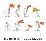 sketch set of working leader.... | Shutterstock .eps vector #1272522010