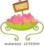 a vector illustration of hearts ... | Shutterstock .eps vector #127252544