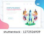 isometric businnes start up for ... | Shutterstock .eps vector #1272526939