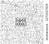 animal set traditional doodle... | Shutterstock .eps vector #1272527029