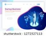 isometric businnes start up for ... | Shutterstock .eps vector #1272527113