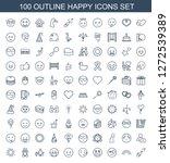 happy icons. trendy 100 happy... | Shutterstock .eps vector #1272539389