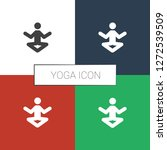 yoga icon white background.... | Shutterstock .eps vector #1272539509