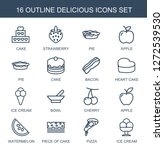16 delicious icons. trendy... | Shutterstock .eps vector #1272539530