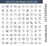 bank icons. trendy 100 bank... | Shutterstock .eps vector #1272539566