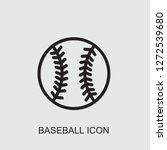 baseball icon . editable... | Shutterstock .eps vector #1272539680