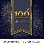 100 years anniversary.100th... | Shutterstock .eps vector #1272540103