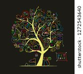 Stock vector pet shop art tree for your design 1272543640