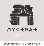 mycenae greece gate vector sign  | Shutterstock .eps vector #1272557476