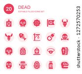 dead icon set. collection of 20 ... | Shutterstock .eps vector #1272570253