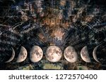 phases of the moon at the... | Shutterstock . vector #1272570400