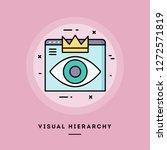 visual hierarchy  web design ... | Shutterstock .eps vector #1272571819