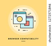 browser compatibility  flat... | Shutterstock .eps vector #1272571846