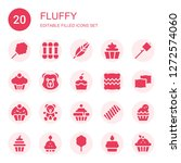 fluffy icon set. collection of... | Shutterstock .eps vector #1272574060