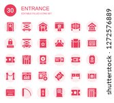 entrance icon set. collection... | Shutterstock .eps vector #1272576889