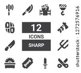 sharp icon set. collection of... | Shutterstock .eps vector #1272576916