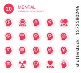 mental icon set. collection of... | Shutterstock .eps vector #1272580246