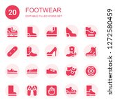 footwear icon set. collection... | Shutterstock .eps vector #1272580459