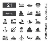 vessel icon set. collection of... | Shutterstock .eps vector #1272580513