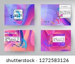 horizontal banners set with... | Shutterstock .eps vector #1272583126