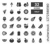 half icon set. collection of 32 ... | Shutterstock .eps vector #1272588580