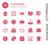 forward icon set. collection of ... | Shutterstock .eps vector #1272590410