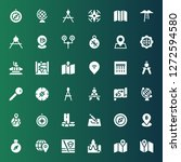 cartography icon set.... | Shutterstock .eps vector #1272594580