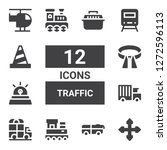 traffic icon set. collection of ... | Shutterstock .eps vector #1272596113